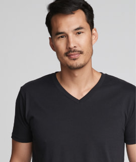 Premium Fitted Sueded V-Neck T-Shirt - 6440